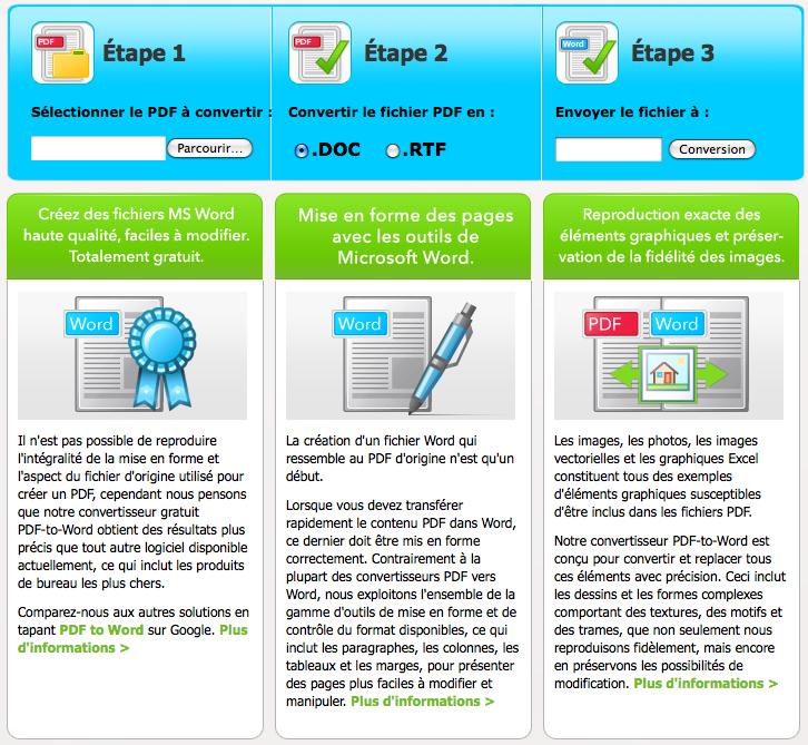 Convertir ses fichiers pdf en doc - Convertir fichier pdf en open office ...