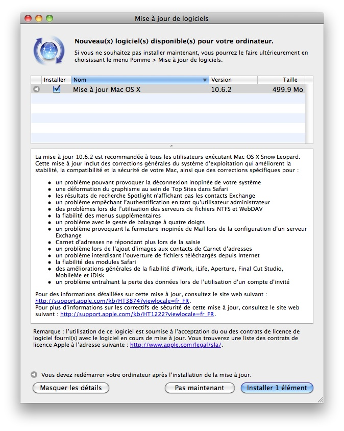 POUR 10.5.8 LOGICIEL TÉLÉCHARGER MAC OS X