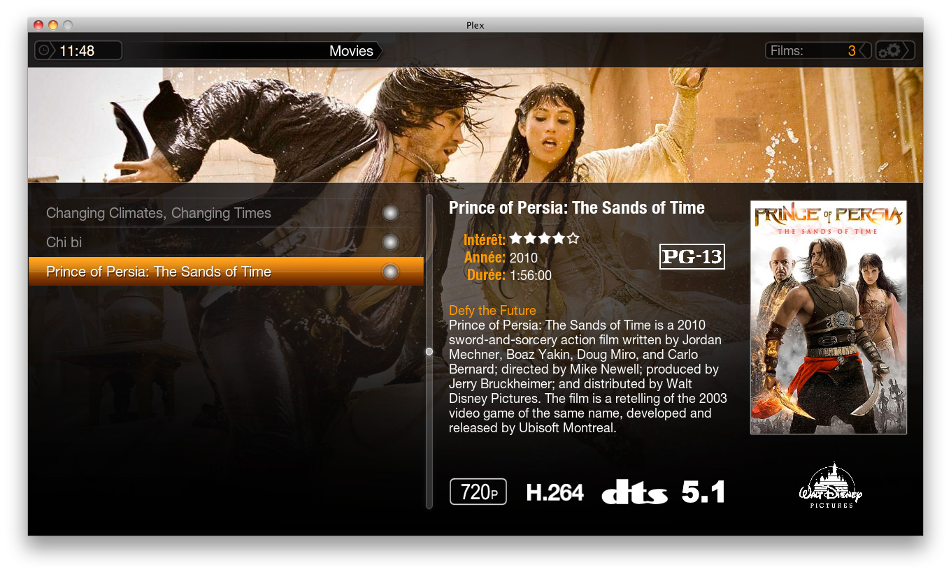 app   plex  media center pour mac