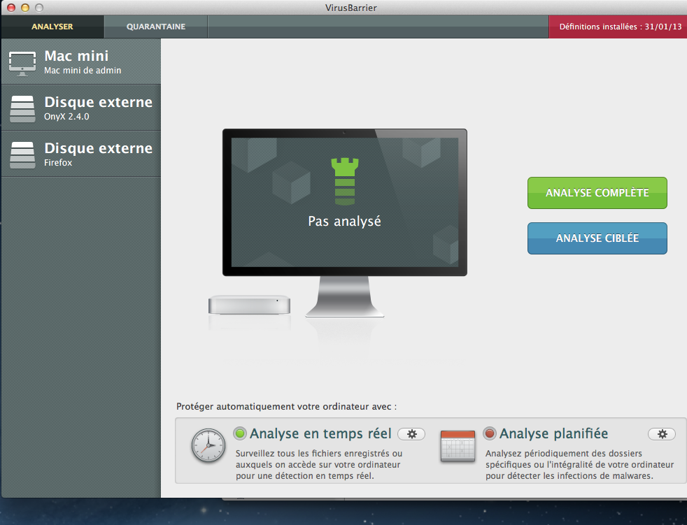 Intego antivirus pour Mac