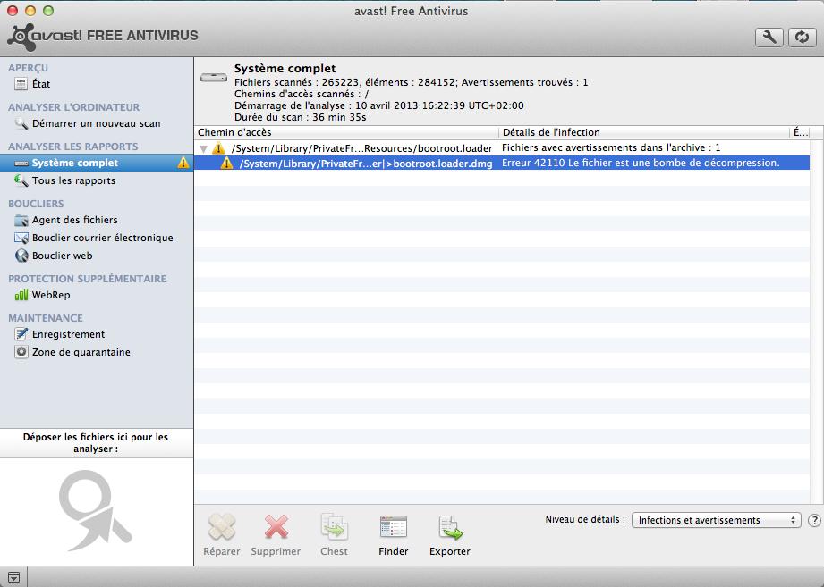 Avast free antivirus pour mac