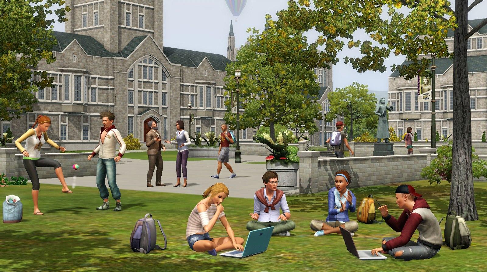 les sims 3 university disponible sur mac. Black Bedroom Furniture Sets. Home Design Ideas