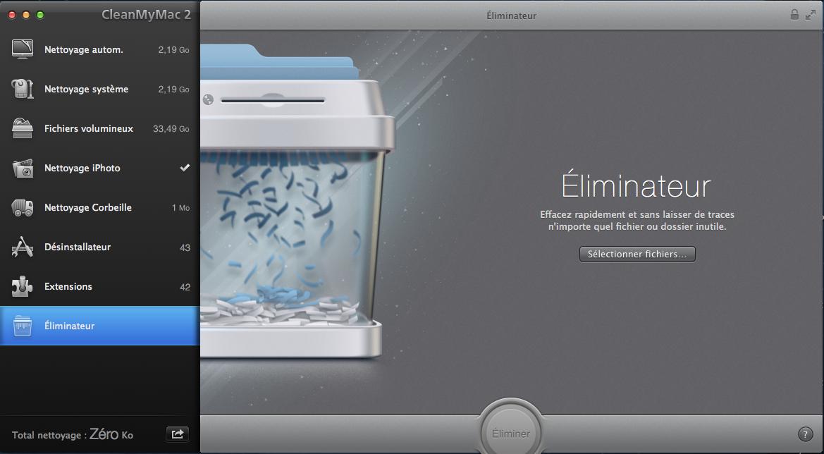 CleanMyMac 2 éliminateur