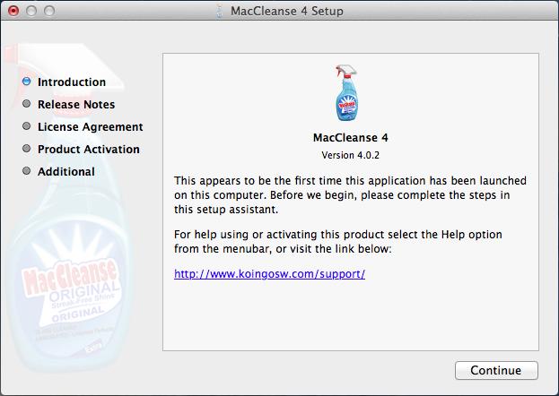 MacCleanse installation