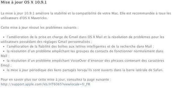 Mac OS X 10.9.1