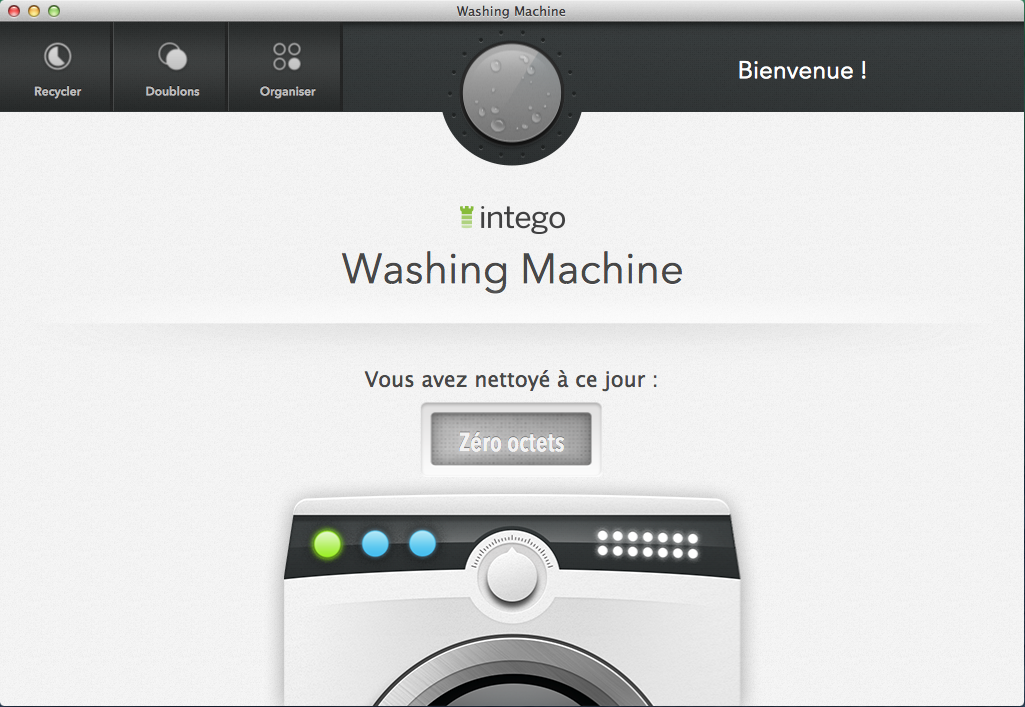 Page d'accueil de Washing Machine