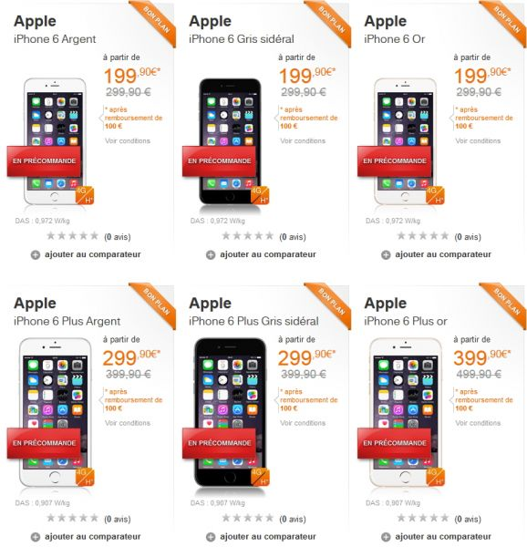 acheter iphone 6 orange
