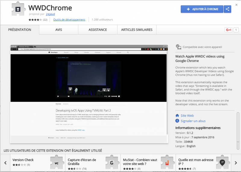 WWDChrome screenshot