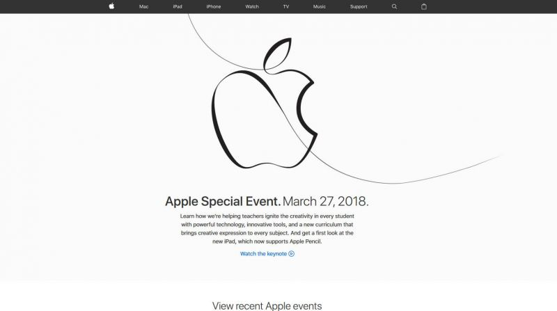 WWDC 2018 official website
