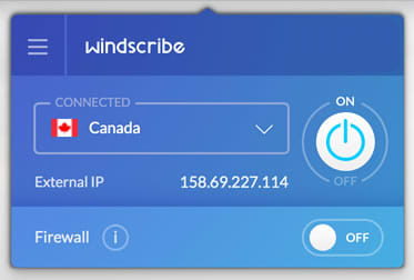 Windscribe VPN sur mac