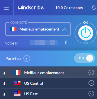 Windscribe France server
