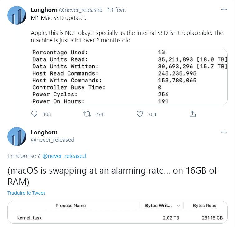 M1 Mac Problem ssd